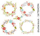 beautiful floral frames... | Shutterstock .eps vector #167504594