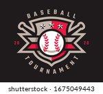 baseball logo design  emblem...   Shutterstock .eps vector #1675049443