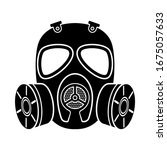 Gas Mask Icon. Chemical Attack. ...
