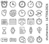 time and clock set of linear...