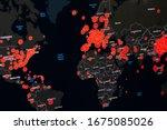 Map of coronavirus  covid 19  ...