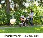 full length of happy young... | Shutterstock . vector #167509184