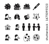 coronavirus icon set.... | Shutterstock .eps vector #1675095523