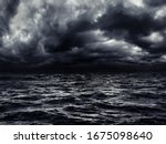 Dark Stormy Sea With A Dramatic ...