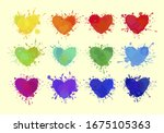 colorful hearts isolated on...   Shutterstock .eps vector #1675105363