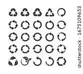 recycle symbol design. vector... | Shutterstock .eps vector #1675109653