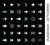 arrow icon collection. arrow... | Shutterstock .eps vector #1675110043