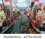 Fishing With A Trawl. A Large...