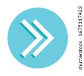 double arrow badge icon. simple ...