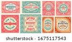set of 8 vintage cards. vector... | Shutterstock .eps vector #1675117543