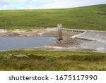 Glascarnoch Dam Next To Road...