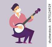 Self Isolation Musician Man...