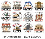 ancient egypt icons of egyptian ... | Shutterstock .eps vector #1675126909