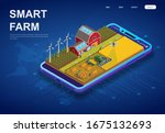 colorful smart farm on a... | Shutterstock .eps vector #1675132693