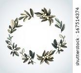 watercolor christmas decoration ... | Shutterstock .eps vector #167514374