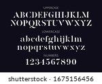 vector stencil serif minimal... | Shutterstock .eps vector #1675156456