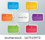 set of colorful speech bubble... | Shutterstock .eps vector #167515973