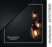 vector graphic of ramadan... | Shutterstock .eps vector #1675172830