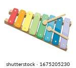 children's xylophone. bright...   Shutterstock .eps vector #1675205230