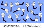 cartoon gloved arms. comic... | Shutterstock . vector #1675206670