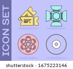 set cd or dvd disk   cinema... | Shutterstock .eps vector #1675223146