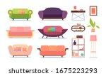 soft furniture. sofas living... | Shutterstock .eps vector #1675223293