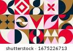 mid century modern. abstract...   Shutterstock .eps vector #1675226713