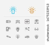energy icons set. moonlight and ...