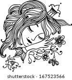 Charming Sleeping Princess Wit...