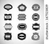 labels in retro style isolated... | Shutterstock .eps vector #167523839