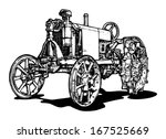 Vector Drawing Of Tractor...