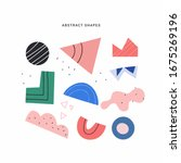 abstract shapes  figures vector ... | Shutterstock .eps vector #1675269196