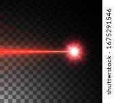 red laser beam. vector... | Shutterstock .eps vector #1675291546