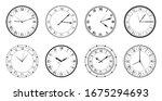 vintage watch. set of different ...   Shutterstock .eps vector #1675294693