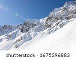 Snowy Rocky Mountain With...