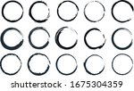 circle set  with paint brush ... | Shutterstock .eps vector #1675304359