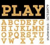 vector alphabet with bulbs. | Shutterstock .eps vector #167530979