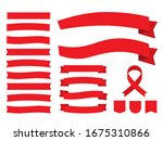 illustration set of red ribbon... | Shutterstock .eps vector #1675310866