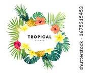 green summer tropical... | Shutterstock .eps vector #1675315453