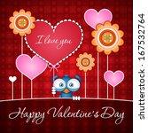 valentine bird | Shutterstock .eps vector #167532764