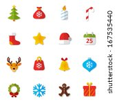 set of flat icons. christmas  ... | Shutterstock . vector #167535440