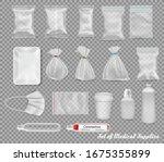 collection of polypropylene... | Shutterstock .eps vector #1675355899
