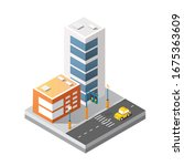 cityscape design elements with... | Shutterstock . vector #1675363609