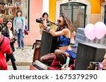 lisbon  portugal march 8  2020  ... | Shutterstock . vector #1675379290