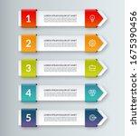 modern minimal arrow elements...   Shutterstock .eps vector #1675390456