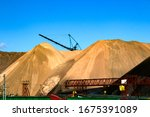 Salt Dumps. Heaps. Waste From...