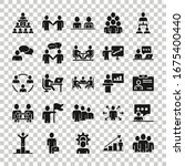 business communication icon set ... | Shutterstock .eps vector #1675400440