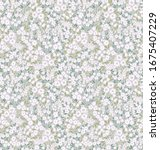 elegant floral pattern in small ... | Shutterstock .eps vector #1675407229