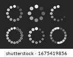 revolving load circle icon in... | Shutterstock .eps vector #1675419856
