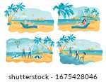 summertime recreation vector... | Shutterstock .eps vector #1675428046